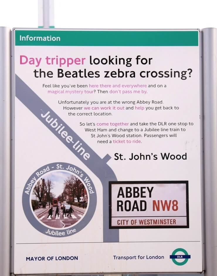 Abbey Road Station Poster